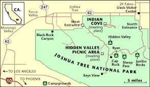 joshua tree california map joshua tree national park map and use the directions below