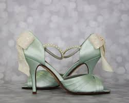 mint wedding shoes add a touch of unique color with these mint custom wedding shoes
