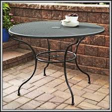 Wrought Iron Patio Side Table Wrought Iron Patio Table Base Patios Home Decorating Ideas