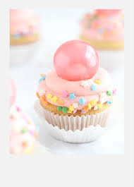 bubble gum frosting cupcakes with gelatin bubbles sprinkle bakes