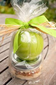 yum cool gift bag take away with the carmel cream cheese apple