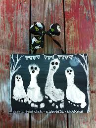 Halloween Craft Kits For Kids by Halloween Footprint Handprint Kid U0027s Craft Ghostly By Giftsbygaby