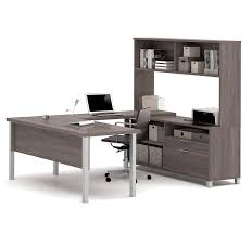Modern Computer Desk With Hutch by Amazon Com Bestar Pro Linea U Desk With Hutch White Kitchen