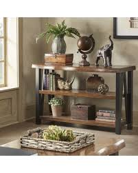 Metal And Wood Sofa Table by Fall Sale Banyan Live Edge Wood And Metal Console Sofa Table