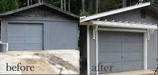 Diy Trellis Arbor Blue Roof Cabin Diy Trellis Over The Garage Door
