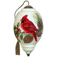 precious moments cardinal ne qwa glass ornament
