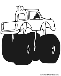 monster truck coloring page free coloring sheet 2