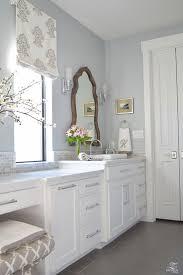 bedrooms light blue bedroom walls master bathroom white cabinets
