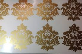 gold vinyl wall decals scroll damask wall pattern 10 graphics zoom