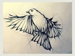 flying bird and mermaid tattoo sketch photo 3 real photo