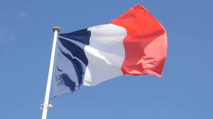 Image French Flag French Flag Against Blue Sky Waving In Slow Motion 1080p Fullhd
