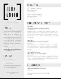 Architectural Drafter Resume Gallery Of The Top Architecture Résumé Cv Designs 4
