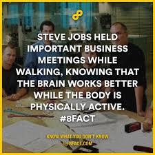 Business Meeting Meme - steve jobs held important business meetings while walking lines