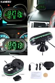 visit to buy digital auto car thermometer car battery voltmeter