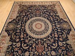 amazon com luxury silk persian area rugs navy living room rugs