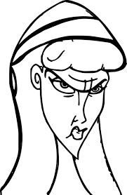 cassandra cassie angry woman face coloring pages wecoloringpage
