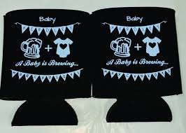baby shower koozies a baby is brewing koozies baby shower can coolers 1122501715