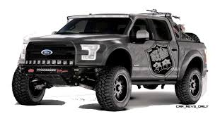 sema jeep 2016 ford sema f 150 concepts are raptor thunder and drifter lightning