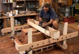 router jig turns stumps into beautiful side tables finewoodworking