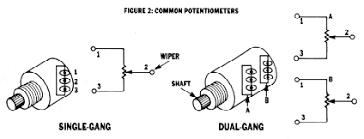 dual gang potentiometer wiring diagrams dual free wiring diagrams