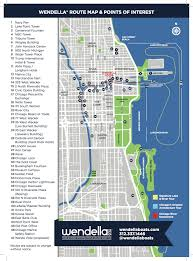 West Chicago Map by Chicago Miracle Mile Shopping Map Printable Chicago Tourist Map