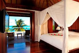 island bedroom beach suite tahiti poster water tropical atoll room hilton bungalow