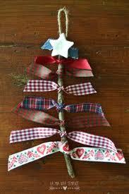 diy easy ribbon bead tree ornament