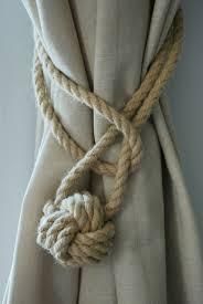 Rope Tiebacks For Curtains Hemp Rope Tiebacks Rustic Hemp Rope Ties Monkey Knot