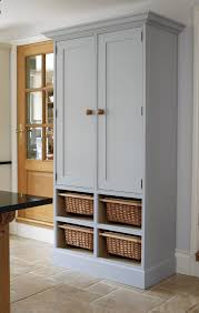 Gray And White Kitchen Ideas Design Fascinating Standalone Pantry With Attractive Cupboards