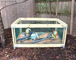 outdoor toy storage diy done right