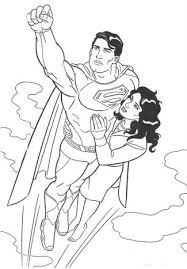 superman coloring pages make your children to be brave coloring