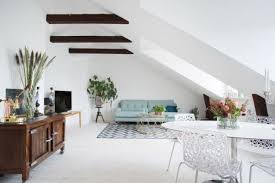 Living And Dining Room 26 Stylish Attic Living Rooms Decor Ideas Shelterness