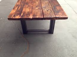 reclaimed wood dining table the top home design