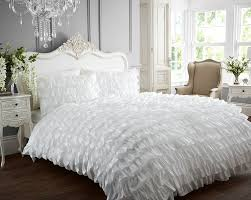 Shabby Chic Bed Linen Uk by Flamenco Frilled Can Can New Quilt Duvet Cover And 2 Pillowcase