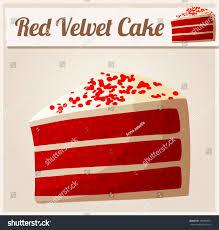 red velvet cake detailed vector icon stock vector 198894071