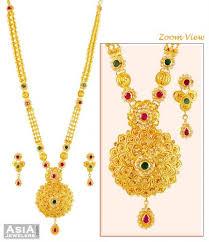 long necklace sets images 22k long necklace set ajns59224 exclusively designed 22k gold jpg
