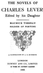 maurice tiernay soldier of fortune by charles james lever