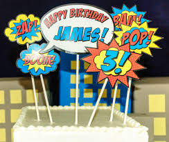 superhero cake topper printed