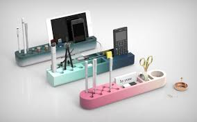 designer desk accessories and organizers radiant gradients of one piece desk organizers design milk
