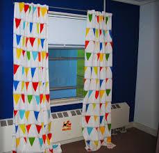 Ikea Nursery Curtains by Diy Nautical Nursery No Sew Curtains