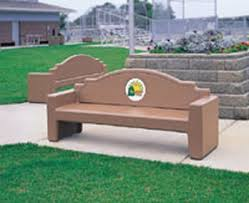memorial bench 7 ft concrete custom memorial bench by park tables