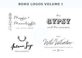 bohemian logos bundle bonus logo templates creative market