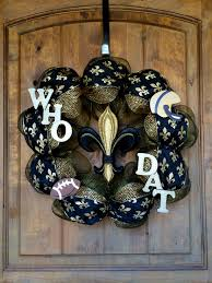 deco mesh who dat saints wreath geaux new orleans saints