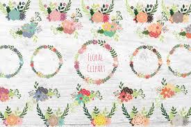 floral wreath and flower bouquet clipart set clip art flower