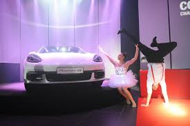 light purple porsche opening show eventshow cz