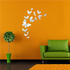 compare prices on wall decals butterfly online shopping buy low home decor 3d wall stickers diy mirror butterfly window wall decals acrylic wall stiker china