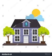 Cute House by Exterior Cute House Icon Stock Vector 567959653 Shutterstock