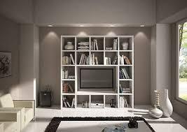 libreria tv libreria parete moderno soggiorno porta tv legno bianco frassinato