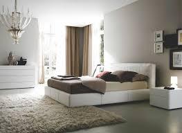 decoration peinture grise blanche chambre coucher tapis shaggy