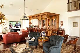 living room bar traditional living room houston by